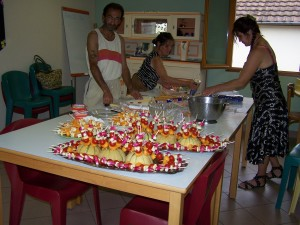 préparation d'un buffet